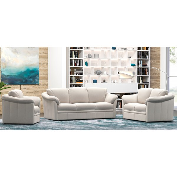Lyons 3 Piece Leather Living Room Set By Westland And Birch