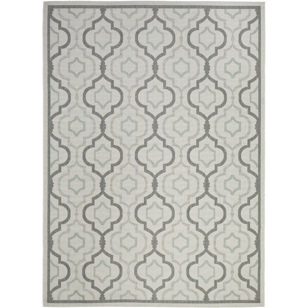 Asheville Light Gray/Anthracite Indoor/Outdoor Area Rug by Alcott Hill