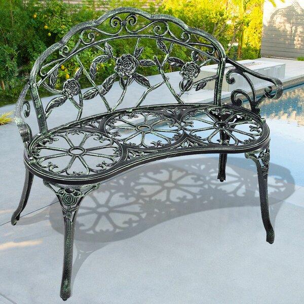 Hartz Patio Rose Cast Aluminum Garden Bench by Fleur De Lis Living