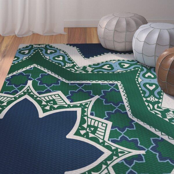 Soluri Navy Blue Indoor/Outdoor Area Rug by Bungalow Rose
