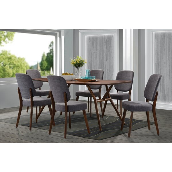 Modern Dana 7 Piece Dining Set By Modern Rustic Interiors Discount