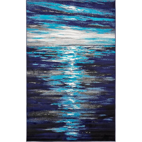 Sidney Navy Blue Area Rug by Wrought Studio