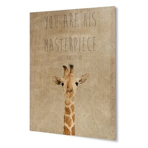 You're His Masterpiece Wall Art on Plaque by KAVKA DESIGNS