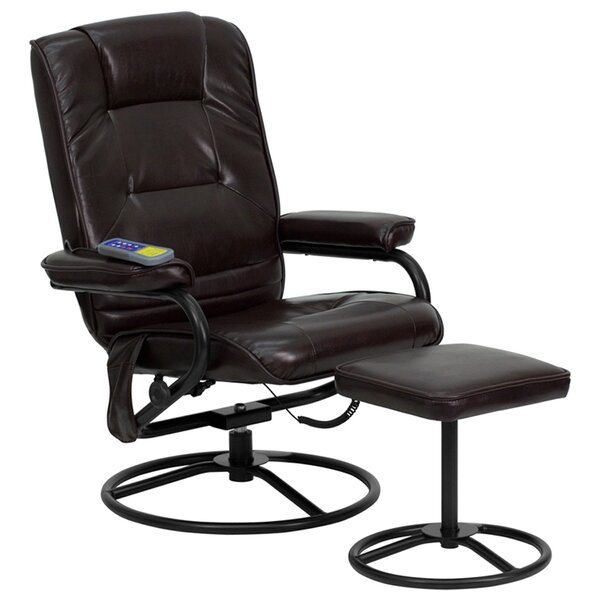 Mariela Manual Recliner with Ottoman by Ebern Designs