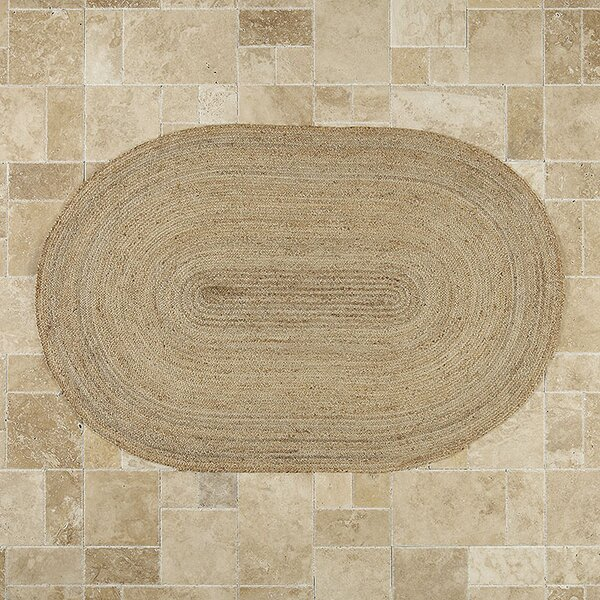 Sarina Hand-Woven Brown Area Rug by Birch Lane™