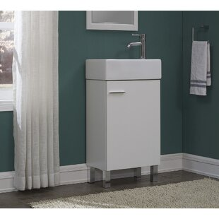 Check Prices Quality Combo Vitreous China 18 Console Bathroom Sink with Overflow ByRunFine Group