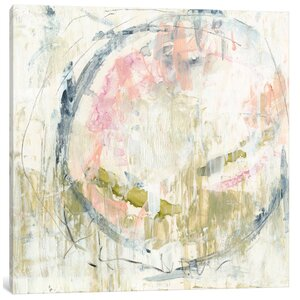 'Pinky Moss I' Painting Print on Canvas by East Urban Home