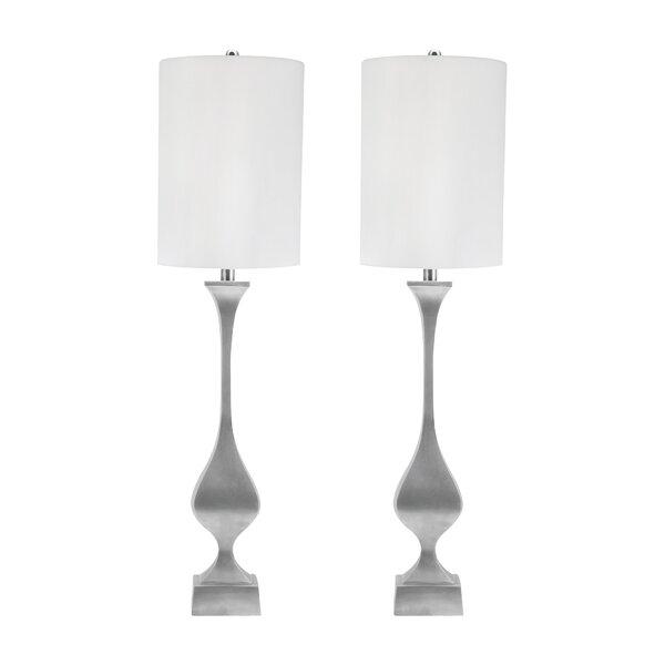 Stacia Antique Cast Metal 39 Table Lamp by Rosdorf Park