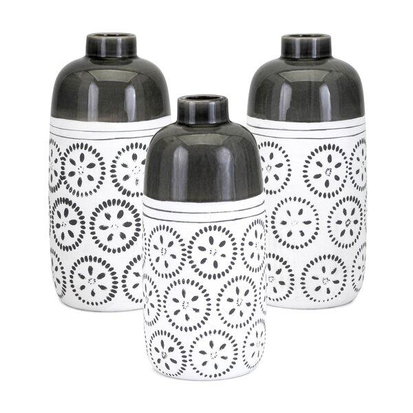 Fannin 3 Piece Table Vase Set by Bungalow Rose