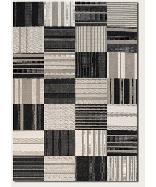 Marche Onyx/Ivory Indoor/Outdoor Area Rug by August Grove