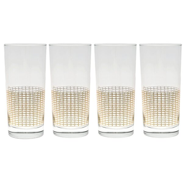 Anding Streamlined 15 Oz. Highball Glass (Set of 4) by Langley Street