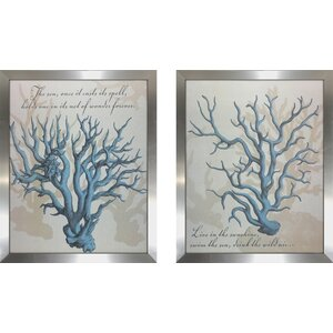 'Sea Spell' 2 Piece Framed Graphic Art Print Set by Highland Dunes