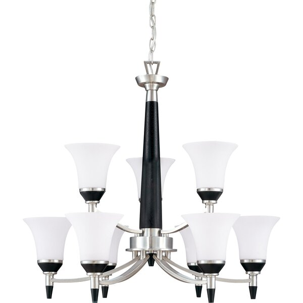 Helle 6 - Light Shaded Tiered Chandelier by Mercer41 Mercer41