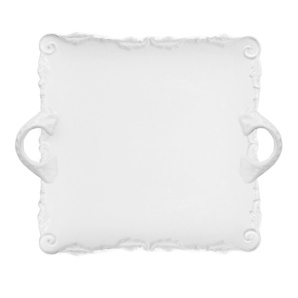 Bianca Wave Square Platter by Design Guild