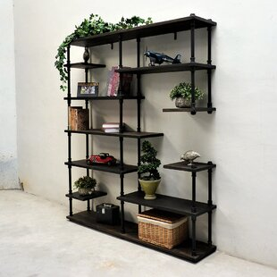 Deals Cirillo Industrial Mid-Century Etagere Bookcase by Williston Forge