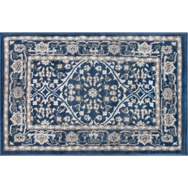 Dolphus Oriental Navy Area Rug by Darby Home Co