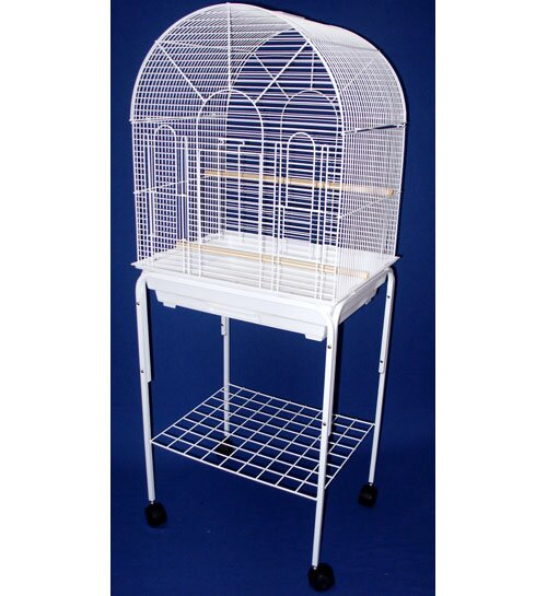 Round Top Small Bird Cage with Stand by YML