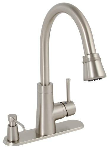 Essen Pull Down Single Handle Kitchen Faucet by Premier Faucet