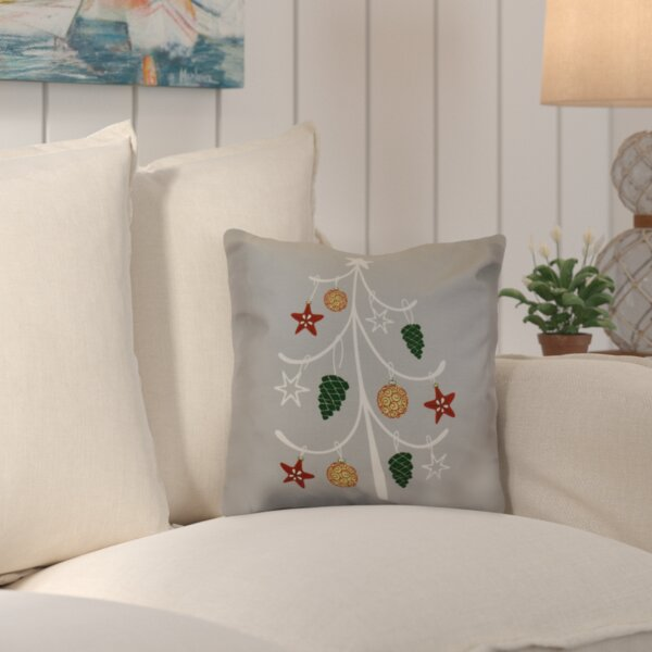 Decorative Holiday Geometric Print Outdoor Throw Pillow by Beachcrest Home