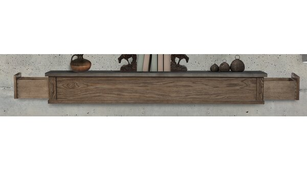 Park West 2 Drawer Fireplace Shelf Mantel by Pearl Mantels