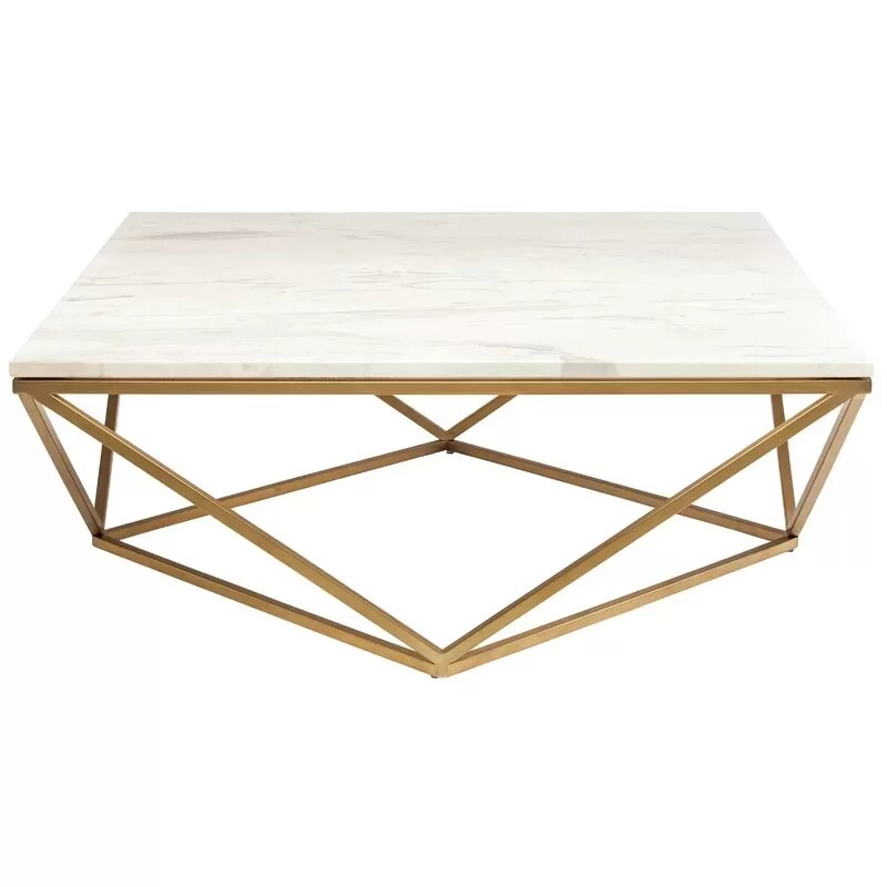 Incroyable Wrought Studio Plutarch Marble Coffee Table | Wayfair
