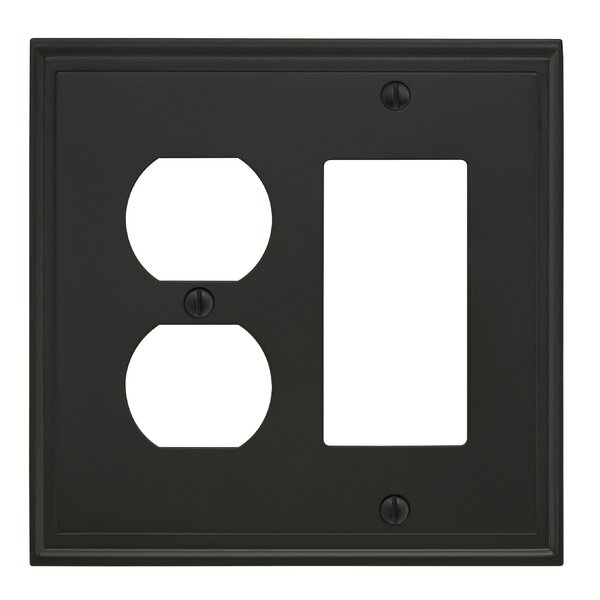 Mulholland Rocker 2 Plug Wallplate by Amerock