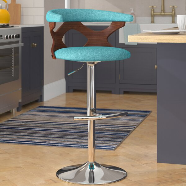 Altigarron 32.5 Adjustable Swivel Bar Stool by Langley Street