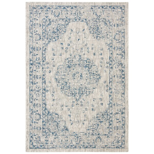 Nataly Gray Indoor/Outdoor Area Rug by Ophelia & Co.
