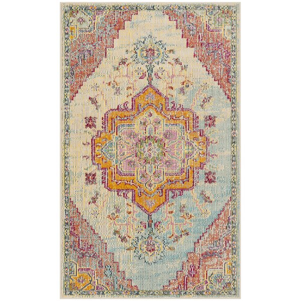 Floressa Light Blue/Fuchsia Area Rug by World Menagerie