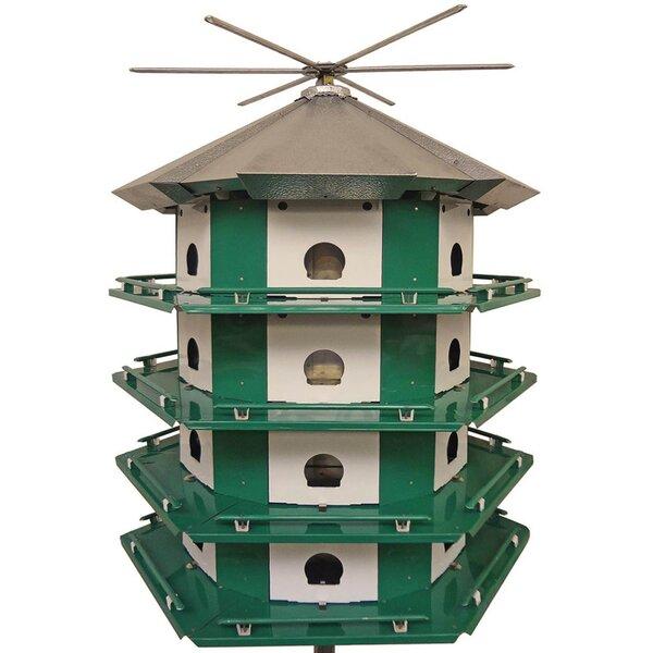 34.5 in x 29.5 in x 29.5 in Purple Martin Bird House by Erva
