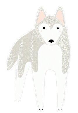 Gingiber Husky Dog Wall Decal by Pop & Lolli