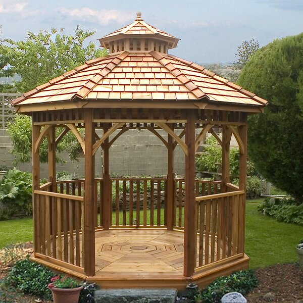 Bayside 10 Ft. W x 10 Ft. D Solid Wood Patio Gazebo by Outdoor Living Today