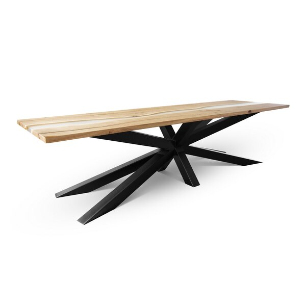 Nickels Solid Wood Dining Table from by Foundry Select