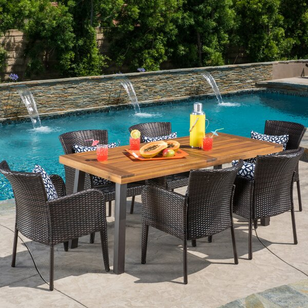 Delmar 7 Piece Dining Set by Bay Isle Home
