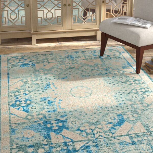 Union Point Teal Area Rug by Bungalow Rose