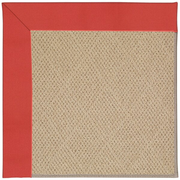 Lisle Machine Tufted Sunset Red/Brown Indoor/Outdoor Area Rug by Longshore Tides