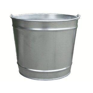 Economy Galvanized 2.5 Gallon Steel Trash Can