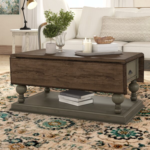 Sandbach Castered Extendable Floor Shelf Coffee Table with Magazine Rack by Three Posts Three Posts