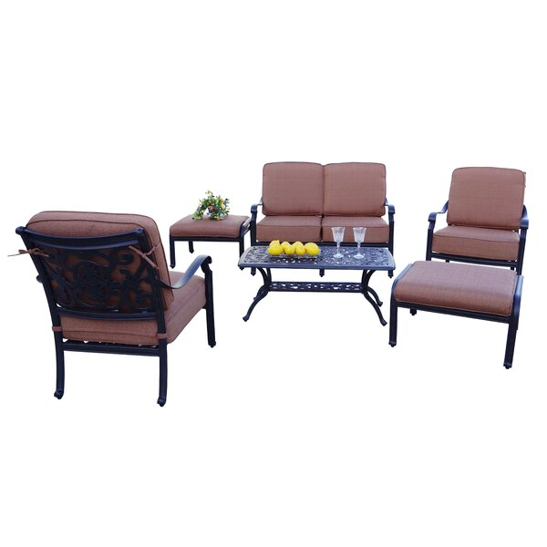 Berenice Patio 6 Piece Sofa Seating Group with Cushions by Astoria Grand