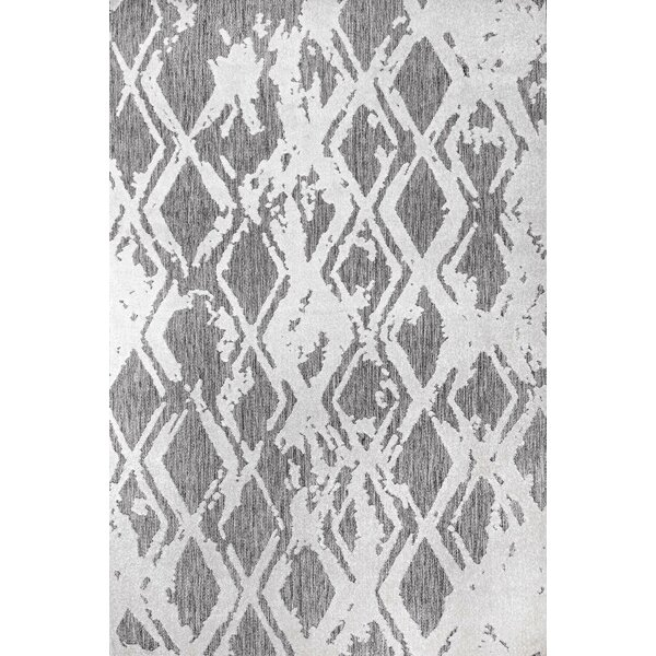 Stanfield Geometric Gray/Off White Indoor / Outdoor Use Area Rug