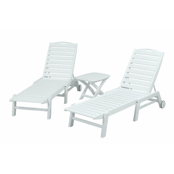 Nautical 3 Piece Chaise Set by POLYWOOD®