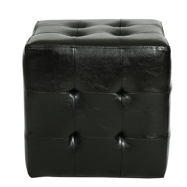 Veilleux Square Tufted Ottoman by Winston Porter