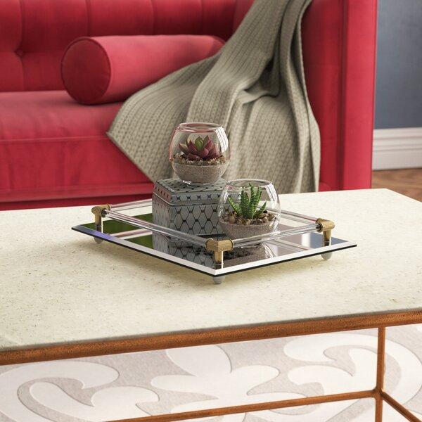 Valya Rectangle Mirror Vanity Tray by Willa Arlo Interiors