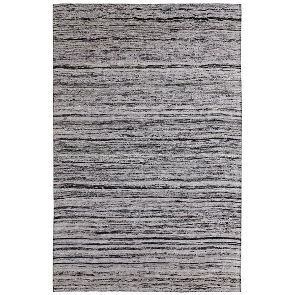 One-of-a-Kind Beach Hand-Woven Silver Area Rug by Ebern Designs