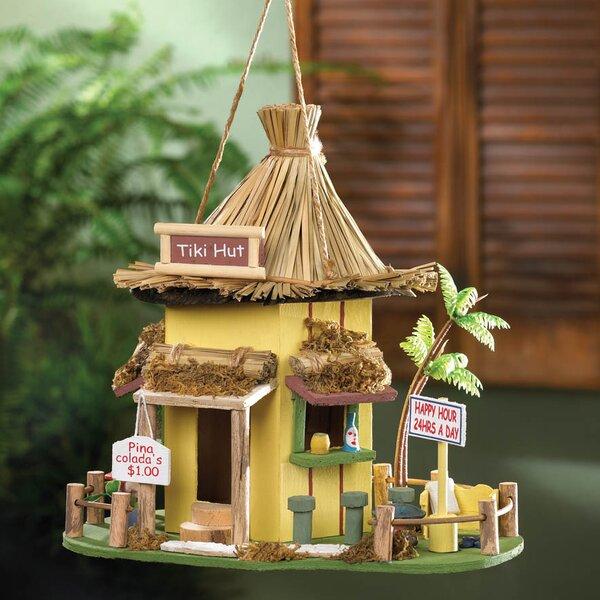 Tiki Hut 10 in x 10 in x 9 in Birdhouse by Zingz & Thingz