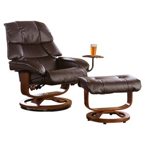 Beltway Manual Swivel Glider Recliner With Ottoman by Red Barrel Studio