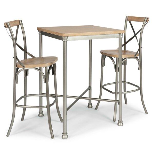 Hamann 3 Piece Pub Table Set by Williston Forge Williston Forge
