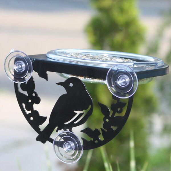 Window-Mount Songbird Tray Bird Feeder by Droll Yankees