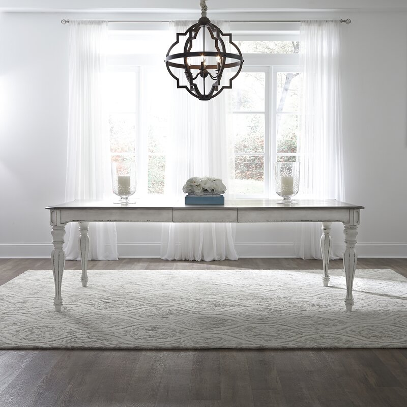 Lime Washed Farmhouse Tables And Benches Bespoke Sizes: Lark Manor Tiphaine Extendable Dining Table & Reviews