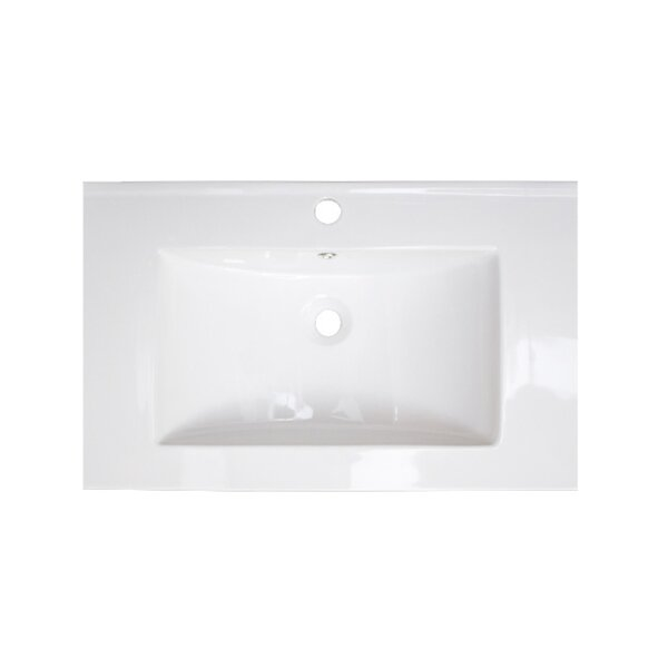 Flair Ceramic Rectangular Drop-In Bathroom Sink with  Over Flow by American Imaginations